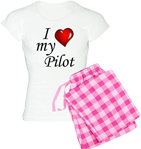 CafePress I Love My Husband Womens Dark Pajamas Womens PJs