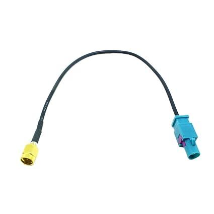 H HILABEE Antena del Coche Cable Fakra Z (Macho) A SMA (Macho)