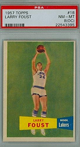 1957 Topps Basketball 18 Larry Foust PSA 8 Off-Center