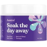 Asutra, Natural Sleep Therapy, 100% Pure Dead Sea Bath Salts, Sweet Dreams, Insomnia Relief, Organic Lavender, Rosemary, Ylang Ylang Essential Oils, Rich in Healing Minerals, 16oz