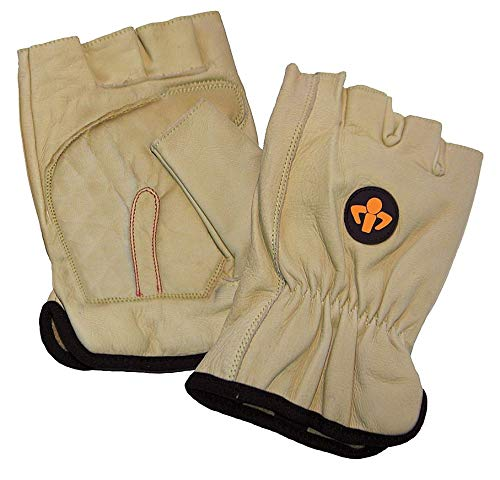Impacto Anti-Vibration Carpal Tunnel Gloves, Leather Palm Material, Yellow, L, PR 1 - ST501540