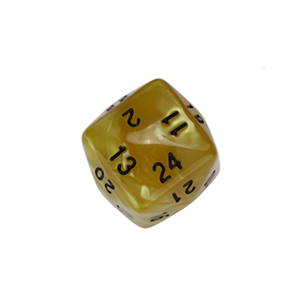 Gbell 1/6 Pcs D24 Dice Set for Dungeons and Dragons Role Playing Game D&D RPG Shadowrun and Math Teaching, 1.1Inch Acrylic Game Dice (Orange)