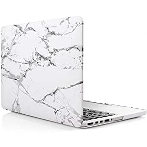 Star Matte Rubber Coated Soft Touch Plastic Hard Case For Macbook Pro 15 Inch With Retina Display Without Cd Drive White Marble