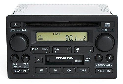 Honda Accord 2001-02 Radio AM FM CD Cassette Player 39101-S84-A510-M1 Face 2XA1