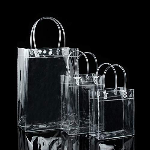 Multifunction Reuseable Shopping Bag Clear Tote Women Shoulder Handbag Size 13x15x7cm