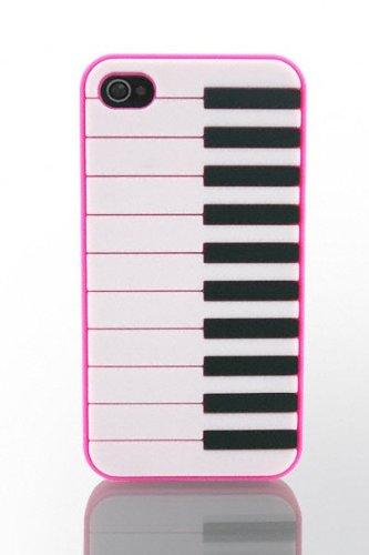 THS5Star piano musique Gel Silicone housse coque etui case pour iPhone 4 iphone 4s manchot pingouin couleur rose foncé - Studio Lars-Peter Neu