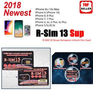 RGKNSE R-SIM 12 Supreme Smart Activation Unlock Card for All iPhone 4, 4s,  5, 6 to X, XS/Max/XR (White)