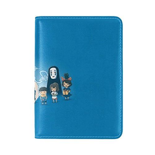 Howls Moving Castle Art Hayao Miyazaki Anime Leather Passport Holder Cover Case Travel One Pocket