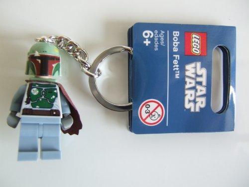 Boba Fett with Cape - LEGO Star Wars Minifigure Key Chain 2011 Design (Lego Star Wars Keychain Boba Fett)