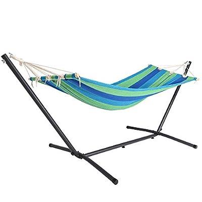 Detex Amaca con supporto Portata fino a 150 kg giardino spiaggia campeggio balcone terrazza rosso