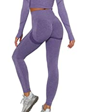 KIWI RATA Vrouwen Scrunch Butt Lift Gym Leggings TIK Tok Hoge Taille Naadloze Yoga Broek Ruches Booty Push Up Tummy Control Compressie Panty voor Workout Fitness Running Oefening