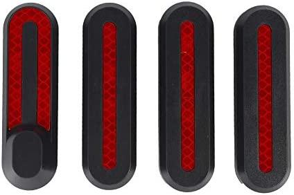 Matefielduk Funda para Scooter Xiaomi M365,Funda Protectora para Scooter M365 ABS 4pcs con Pegatina Luminiscente para Rueda Delantera y Rueda Trasera ...