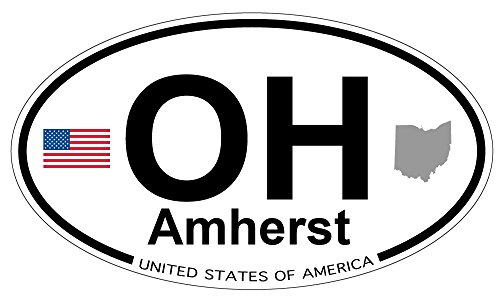 Amherst, Ohio Oval Magnet