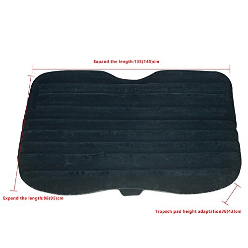Car Inflatable Air Mattress Travel Bed Camping Cushion Back Seat Airbed with Pump
