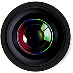 CREEP BLOCKER WEBCAM COVER - 6 PACK - Re-usable vinyl decal stickers specially designed for online privacy. Looks like a camera to ensure a perfect blend.Webcam cover, Camera lens cover style 6