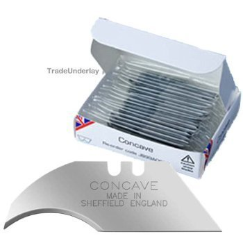 Jewel 100 X Heavy Duty Concave / Curved Blades Made In Sheffield England Stamped, Stanley Type