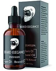 BEARD ELEGANCE Olejek do brody, wegański, 60 ml, wysokiej jakości olejek do brody z pipetą, do codziennej pielęgnacji brody, 100% naturalny, prezent dla mężczyzn