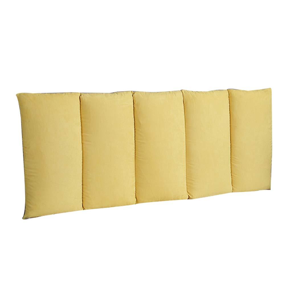 QiangDa Rückenlehne Für Bett Kissen Ohne Kopfteil an Die Wand Kleben Verhindere Den Schlagenden Kopf Schlafzimmer, 10 Feste Farben, 5 Größen Wahlweise (Farbe   Gelb, Größe   120 x 60cm)