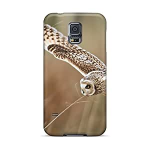 lintao diy BretPrice LfZ5599vzMF Protective Case For Galaxy S5(owl Flight)