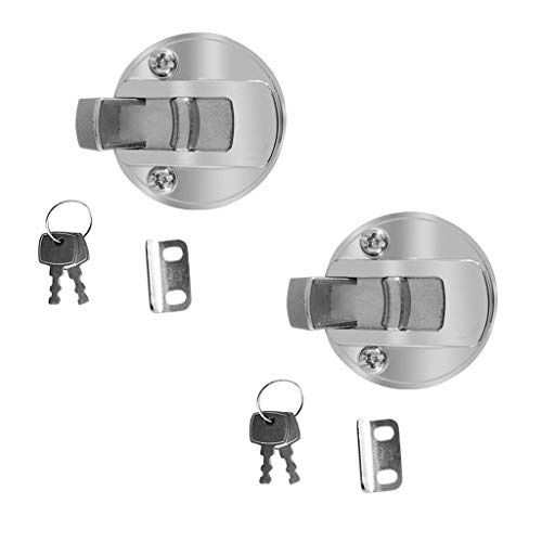 TOOGOO Zinc alloy floor lifter inlet handle for boat deck hatch lifter door lock - 2 pcs by Toogoo