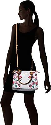 Calvin Klein Top Zip Floral Printed Monogram Satchel
