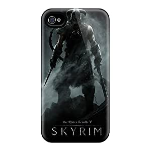 Protective Hard Cell-phone Case For Iphone 4/4s With Unique Design Fashion Skyrim Pictures CharlesPoirier