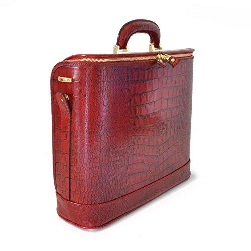Pratesi Unisex Italian Leather Raffaello King Croco 15