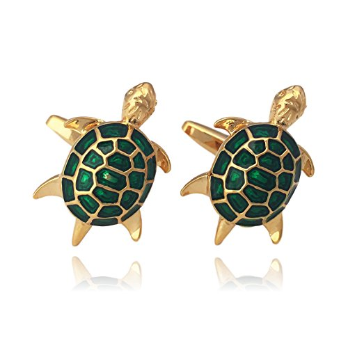 Gold Green Cufflinks - 4