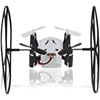 Owill Helic Max Sky Walker 1340 2.4GHz 4CH Fly Ball RC Quadcopter 3D Flip Roll Helicopter With 0.3 MP Camera/Random Color Controller (White)