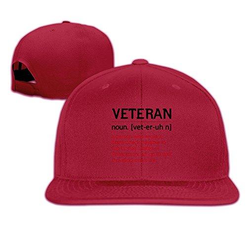 Veteran's Definition Simple But Not Simple Unisex Adjustable Cap Red
