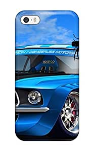 Top Quality Protection Boy And Racer Car Cartoon Case Cover For Iphone 5/5s