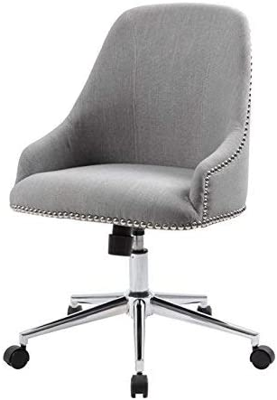 Boss Office Products Carnegie Desk Chair, Grey