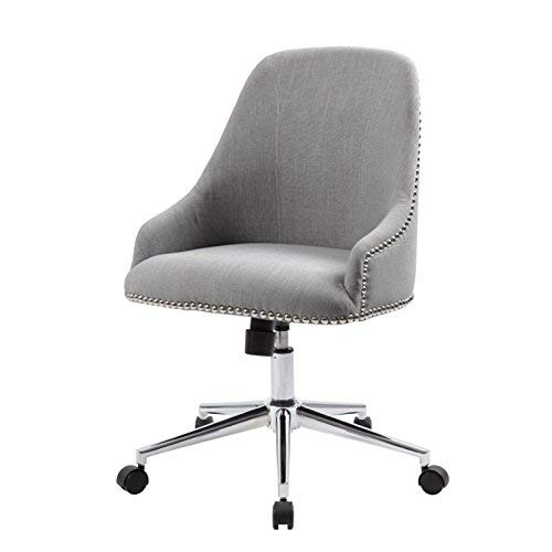 Boss Office Products B516C-GY Carnegie Desk Chair, Grey (Lucky Crown Design)