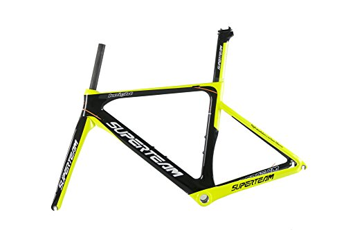 Superteam Full Carbon Fiber Cycling 700c Colored Frame Glossy or Matte Finish for Road Bicycle