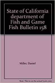 State of california department of fish and game fish for California department of fish and game