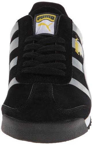 Puma Heren Roma Basic Dip-dye Klassieke Sneaker Zwart / Wit / Levendig Geel