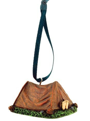 Camping Tent Figurine Ornament, 2-inch, Hanging Tree Decoration
