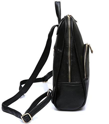 Black Travel Women's Backpack Shoulder Bag Waterproof Candy Color qTZxTRA