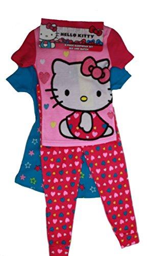 Hello Kitty 4-Piece Sleepwear Set (Pink/Blue, 4T)