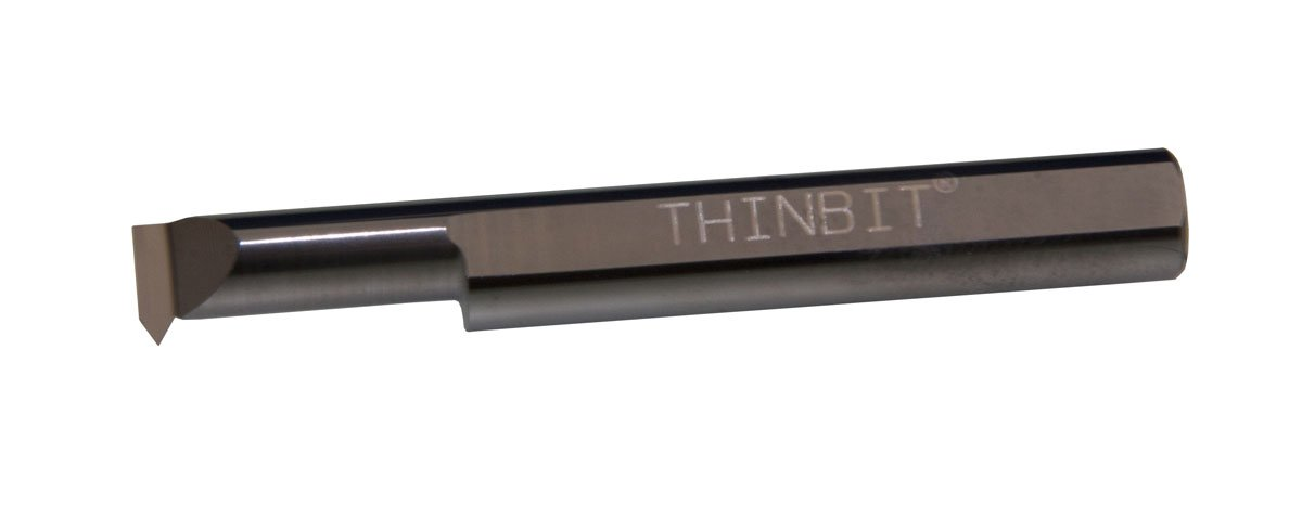 0.694 Reach 0.312 Minimum bore 9 to 56 threads per inch THINBIT TT50CR Uncoated Solid Carbide Threading Tool Heavy Duty Elliptical neck and 5//16 Shank