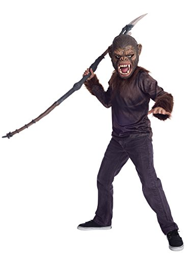 Authentic Planet Of The Apes Costume (War For The Planet of The Apes Child's Caesar Costume Shirt & Mask Set, Medium)