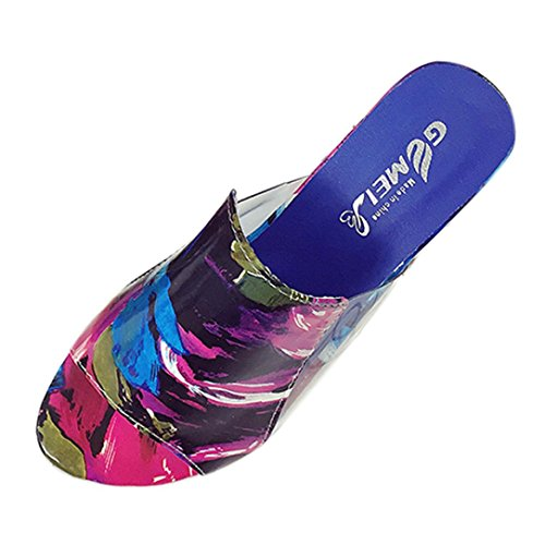 Mädchen Plateau Peep Wedge Comfort Schuhe Leder Damen Mehrfarbig Ansenesna Keilabsatz Sommerschuhe Elegant Sommer Toe Outdoor Sandalen UnSpqwqg