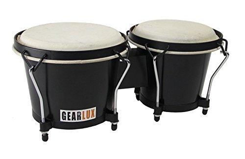 Gearlux Tunable Bongos - Black