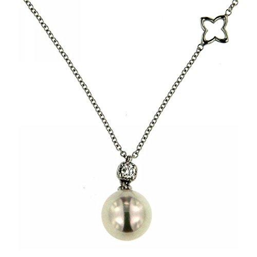 Collier recarlo Femme XD114/0800a or blanc perle