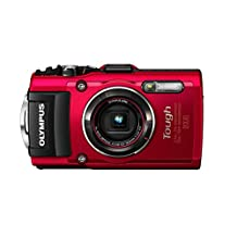 Olympus TG-4 16 MP Waterproof Digital Camera with 3-Inch LCD, Red