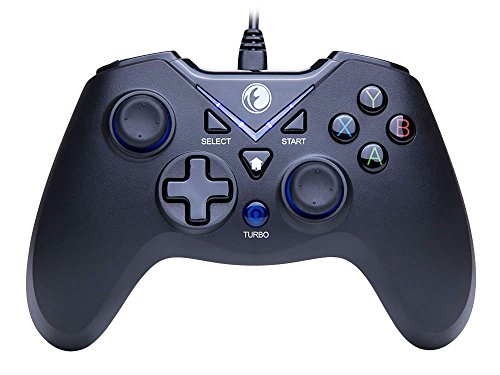 IFYOO V-one Wired Gaming Controller USB Gamepad For PC(Windows XP/7/8/10) & PlayStation 3 & Android & Steam – [Black&Blue]
