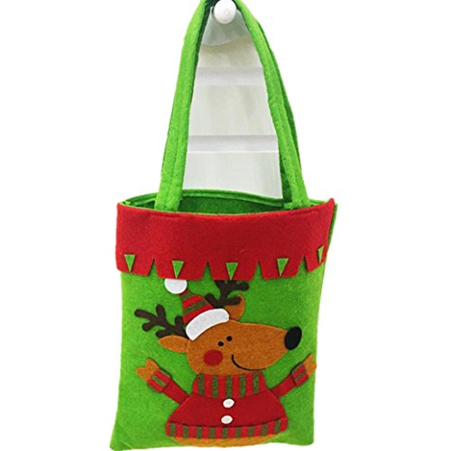 [Elevin(TM) New Cartoons Santa Claus Gift Bags Merry Christmas Candy Bags Decoration (C)] (College Girl Halloween Costumes Creative)