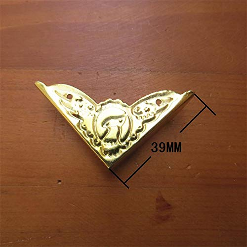 BIG-DEAL_39MM Imitation Gold Bird Corners Metal Right Angle Corners Retro Bags Trumpet Corners wrap Angle Wholesale