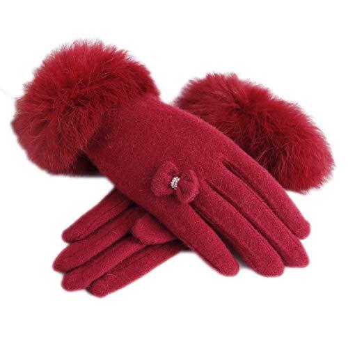 Autunno Da E A Inverno Accogliente Con Touchscre Rosso Caldi Donna Guanti Battercake Mano BwC4qASS