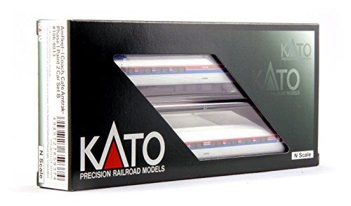Kato USA Model Train Products N Amfleet I Coach Café Amtrak Phase I Set B 2-Car Train Set